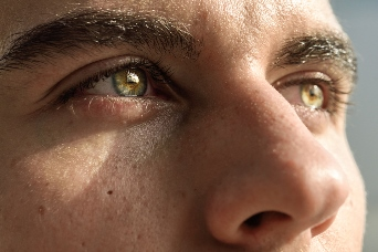 Macro Shot Of Man's Eye